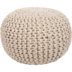 Surya's collection of fine poufs are designed to complement their line of fabulous rugs and textiles. Each pouf is handmade of wool, cotton, and jute, and each