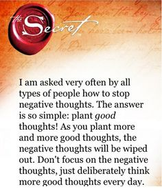 Secret - Positive thoughts