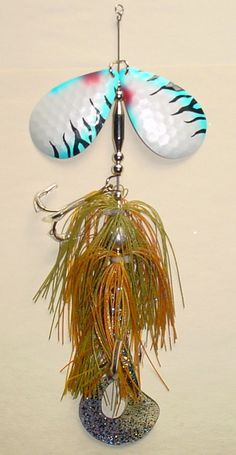 "3-BULK 9/"" Double #8 Bucktail Muskie Musky Lure Northern Pike Bait Bass Cowgirl"