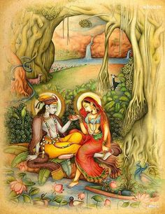 Radhe Krishna Love Paintings #1