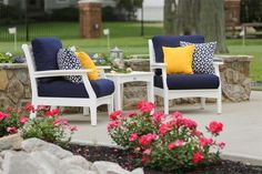 Berlin Gardens Classic Poly Terrace Club Chair Set Gorgeous chairs to use on your patio, porch or under your pergola! Sit in comfort and style with this Club Chair Set. Made with ultra durable poly lumber that won't crack, fade or splinter.