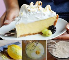 Lemon Meringue Custard Pie