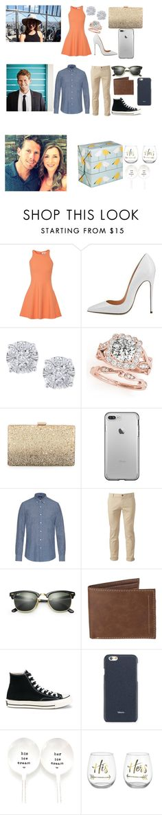 """""""Happy Engagement party Emme and Boss xxx"""" by coco-james ❤ liked on Polyvore featuring Elizabeth and James, Effy Jewelry, Neiman Marcus, FAY, Chor, Ray-Ban, Levi's, Converse and Valextra"""