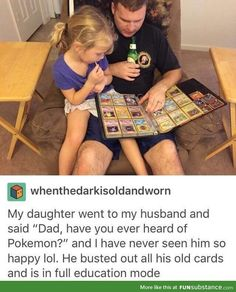 "Lmao this would be me as a parent. -Generation 15 comes out- ""Mommy, I like Pokémon! I want to be a Pokémon trainer!"" -slides in with Eevee plushie- ""I've wanted to be one since I was 3, kid."""