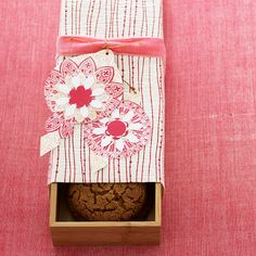 Wrap decorative paper around a drawer organizer for a clever container that can hold cookies and more goodies! http://www.bhg.com/christmas/gift-wrapping/gift-wrapping-ideas/?socsrc=bhgpin122314slideoutgiftcontainer&page=11