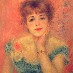 Renoir.Oh my, this painting is stunningly beautiful.  Love it and the colors.  B.