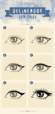 9 infográficos para você se tornar uma expert em maquiagem It is not always easy to draw a perfect eyeliner or collar false eyelashes. If you have ever had any of these difficulties, this is for you! Beauty Make-up, Make Beauty, Beauty Hacks, Professionelles Make Up, How To Make Hair, Makeup Tips, Hair Makeup, Make Up Videos, Makeup Inspiration