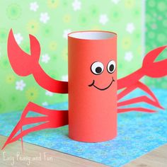 We're showing how to makeanother cute toilet paper roll craft for kids to make this one too perfect for summer! Ready? Let's make a paper roll crab craft. Not long ago wemade a sweet little paper roll octopusand this little fellow is a perfect fit. *this post contains affiliate links* Paper Roll Crab Craft What …