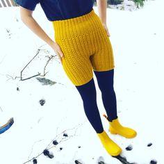 Den gule, kule ullshortsen – gudruns.blog