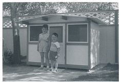 midcentury play house - my kids need a little post & beam playhouse!