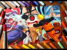 Speed Drawing - Naruto's Rasengan VS Sasuke's Chidori (Naruto Shippuden) [HD]