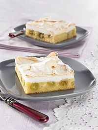 Rezepte Kuchen: Stachelbeer-Baiserkuchen