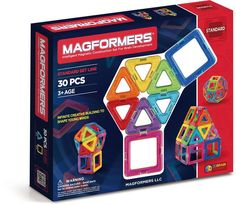 Create 3D structures from 2D nets with the award winning Rainbow 30Pc Set. Arriving with squares and triangles that are perfect for little fingers to start building...