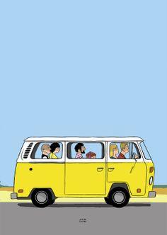 """""""Little Miss Sunshine"""". Art by Javi de Castro."""