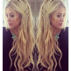 Beach Waves with Side Braid: Boho Hairstyles