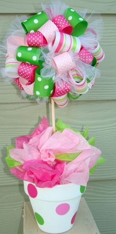 Great baby shower idea, or make it for any holiday....colors would need to change for my shower but cute for table décor!