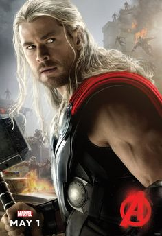 Thor character poster. Avengers: Age of Ultron.
