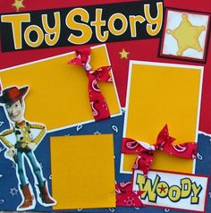 Premade Scrapbook Pages, Disney Toy Story Scrapbook Page Kit, Artsy-Fartsy Memories on Etsy