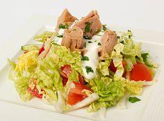 Sałatka z tuńczyka z jogurtem Cobb Salad, Tacos, Mexican, Ethnic Recipes, Food, Hoods, Meals