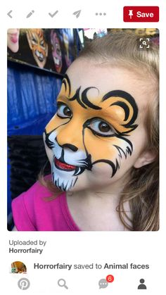 mädchen schminken kinderschminken fasching schminktipps karneval Sketch everything you see. Animal Face Paintings, Animal Faces, Face Painting Tutorials, Painting Patterns, Painting Tips, Easy Face Painting Designs, Tiger Face Paints, Face Painting For Boys, Easy Halloween Face Painting