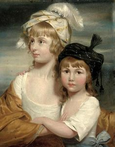 The Misses Rigby, Sarah and Mary Emma - the two daughters of Mr Rigby of Norwich (1778) by John Downman (1750 – 1824)