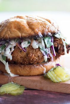 I love this Buttermilk Fried Chicken Sandwich with Cilantro Jalapeno Coleslaw. Crispy, Juicy, Flavorful Fried Chicken Breast with a Spicy Buttermilk Coleslaw to end the summer! But I still eat this thing throughout the year…. For the past 10 years I have lived in an area where the summers are longer and winter is null...Read More »