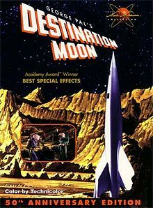 Destination Moon (1950) is an American science fiction film produced by George Pal. The film was directed by Irving Pichel, shot in Technicolor, and distributed in the United States and UK by independent Eagle-Lion Classics.[1] Pal produced the first major U. S. science fiction film to deal with the dangers inherent in space travel and with the possible difficulties of landing on and safely returning from our only satellite