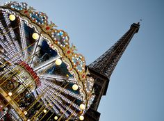 Carousel vs Eiffel Tower by jvr_shots, via Flickr