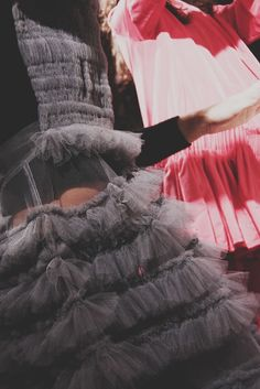 Layers and layers of tulle at Molly Goddard AW15. More Molly Goddard: http://www.dazeddigital.com/fashion/article/23733/1/molly-goddard-aw15
