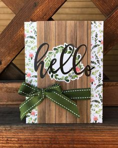 Idée couv mini A little happy springtime hello I created in one of my 30 minutes of crafting a day sessions. Spring IS coming, right? Holiday Cards, Christmas Cards, Wood Stamp, Sympathy Cards, Card Kit, Anniversary Cards, Homemade Cards, Stampin Up Cards, Card Templates