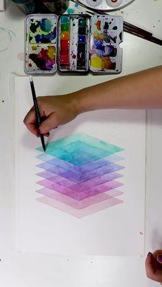 Watercolor Art Lessons, Watercolor Paintings, Easy Paintings, Watercolour, Diy Canvas Art, Canvas Ideas, Art Drawings Sketches Simple, Pretty Drawings, Art Painting Gallery
