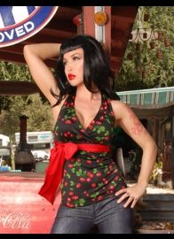 Holly Tie Halter Top in Black Cherry by Pinup Couture---For Jessica