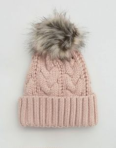Search: knit beanie with faux fur - Page 1 of 1 | ASOS
