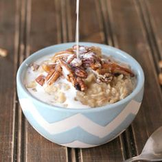 Say goodbye to oatmeal packets and make this quick and easy homemade banana pecan oatmeal with all real food ingredients!