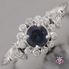 Art Deco Alexandrite Ring