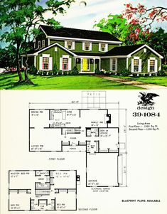 - Mid-century modern - (notitle) The purchase p. Vintage House Plans, Modern House Plans, House Floor Plans, Sims House Design, Mountain House Plans, Bangkok, House Blueprints, Mid Century House, Classic House