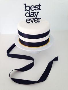 Black and white chocolate birthday cake