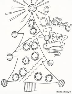 Christmas - Celebration Doodles Xmas Tree