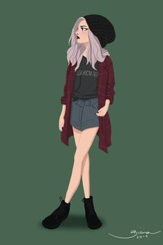 Grunge girl on behance. grunge girl on behance character design references Character Design Cartoon, Character Design Animation, Character Drawing, Character Design Inspiration, Character Illustration, Illustration Girl, Cartoon Kunst, Cartoon Art, Cartoon Girl Drawing