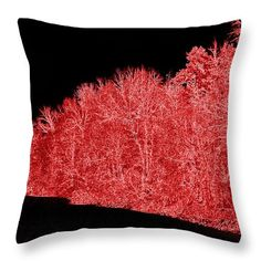Want to buy this pillow? Click on the title or follow this link:  https://fineartamerica.com/featured/snowy-white-limbs-with-neon-filter-ali-baucom.html?product=throw-pillow