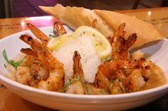 BUBBA GUMP SHRIMP NEW ORLEANS  28 shrimp,4 tsp McCormick Cajun seasoning,4 oz lemon butter,12 oz bbq butter sauce,20 oz Rice cooked,4 Tbsp green onions chp,  Season and grill shrimp skewers, basting with lemon butter.Heat BBQ Butter Sauce.Mound rice in center of bowl. Remove shrimp from skewers and putaround rice.Pour sauce over shrimp. Sprinkle green onions.  BBQ BUTTER SAUCE  11 oz butter,1 tsp ground cayenne pepper ,2 tspblack pepper,2 tsp oregano,2 tbsp garlic chopped,1 tsp salt,2 tsp…