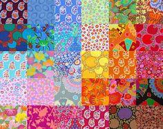 Pack de différents Kaffe Fassett tissu charme carré 38 - préalablement lavé, Rotary cut