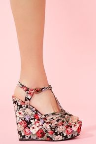 Floral wedges; would like for wedding shoes