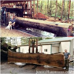 This Massive Black Walnut log was milled up this week. Now it will air-dry under cover for 2 years before it is carefully kiln dried for 3 months. Quality takes time- NO SHORT CUTS! www.jewellhardwoods.com