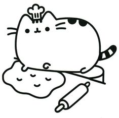 Chef Pusheen Coloring Pages