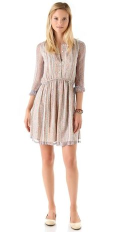 Girl. by Band of Outsiders Long Sleeve Babydoll Dress.