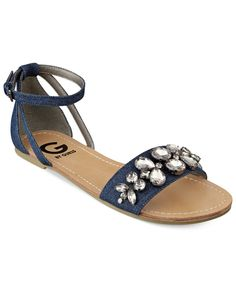 G by Guess Women's Lawful Two-Piece Rhinestone Sandals