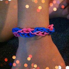 rainbow loom Honeycomb Pattern Bracelet
