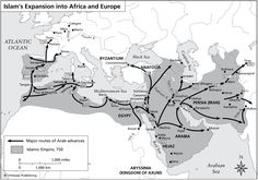 Islam's expansion into Africa and Europe during the Umayyad Dynasty.