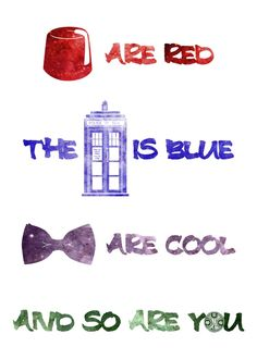 Doctor Who Inspired Rhyme Valentine's Day Card – 5×7 100lb. Satin Finish Cardstock – Geek-a-bye Baby – Sci-Fi Geek, Fez, Tardis, Bow Tie. $6.00, via Etsy.